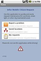 Screenshot of Infor Mobile Citizen Request