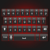 Sleek Red Keyboard Skin