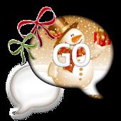 GO SMS THEME/SnowmanTime