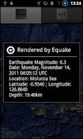 Screenshot of Equake App Widget