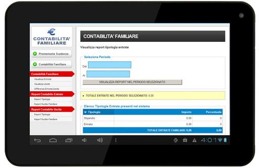 Bilancio Familiare ver. Tablet screenshot