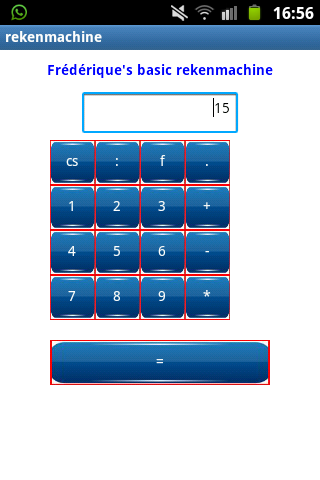 Frederique's basic calculator - screenshot