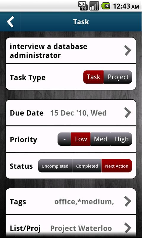 WAToDo! LITE Android ToDoList- screenshot