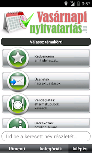 【免費購物App】Vasárnapi nyitva tartás-APP點子