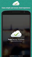 Screenshot of Right Backup Anywhere