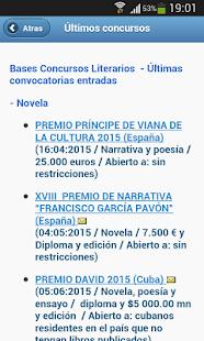 Concursos literarios - screenshot thumbnail