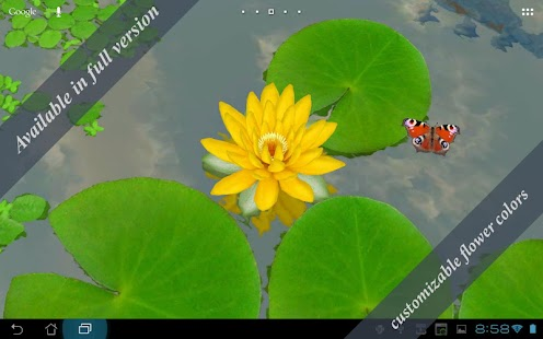 3D Lotus Live Wallpaper Free- screenshot thumbnail