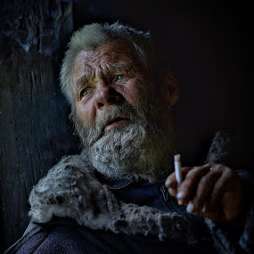 Altai Hobo by Roman Mordashev - People Portraits of Men