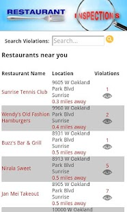 Restaurant Inspections - FL- screenshot thumbnail