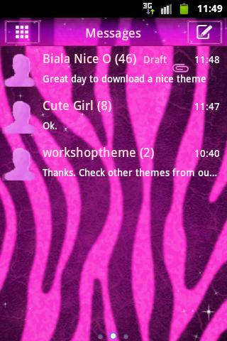 GO SMS Pro Pink Zebra Buy