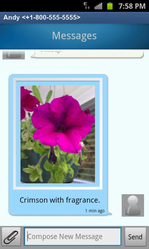 QuickTouch Text Messaging - screenshot