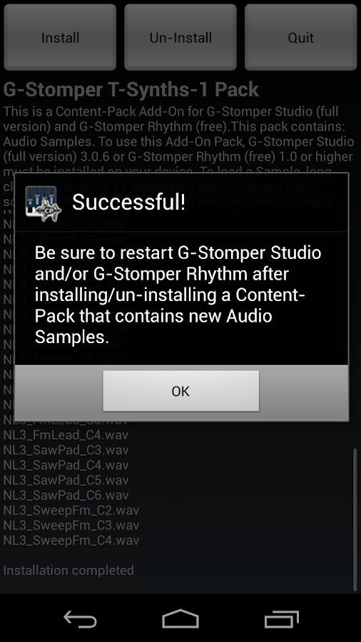 G-Stomper Tonal-Synths-1 Pack - screenshot