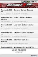 Screenshot of CamaroZ28.COM Podcast