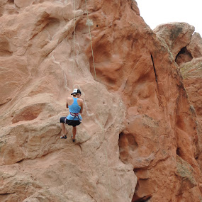 Climbing at Garden of the Gods by Beverly Lee - Uncategorized All Uncategorized (  )