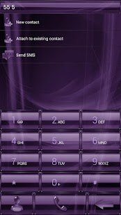 exDialer GlassMetalFramePurple - screenshot thumbnail