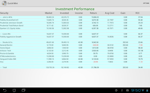 how to add an investment account in quicken