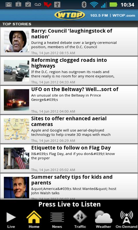WTOP - screenshot