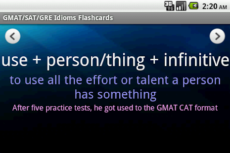 GMAT/SAT/GRE Idioms (with Ads) - screenshot thumbnail