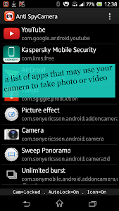 Camera Lock , Disable Camera screenshot 4