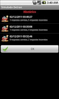 Screenshot of Simulado Detran