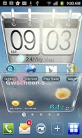 Screenshot of Sense transparent MX Theme