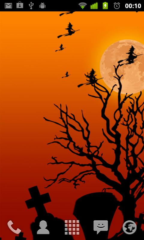 Halloween live wallpaper lite- screenshot