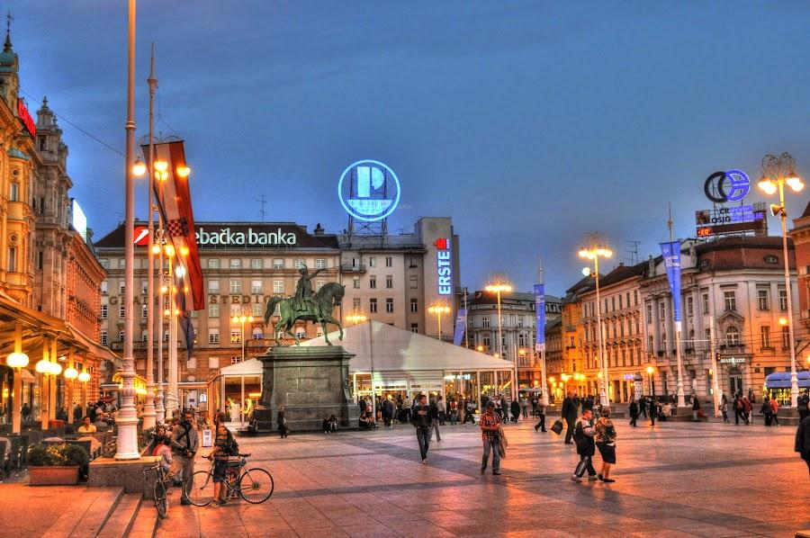 Evening walk by Zeljko Kliska - City,  Street & Park  Street Scenes ( hdr, street, night, square, city, , city at night, street at night, park at night, nightlife, night life, nighttime in the city )
