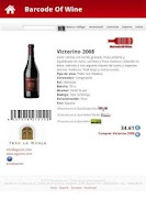 Screenshot of Barcode Lite Wine