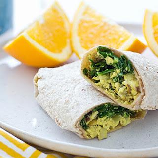 Freezer-Friendly Greens & Tofu Scramble Wraps