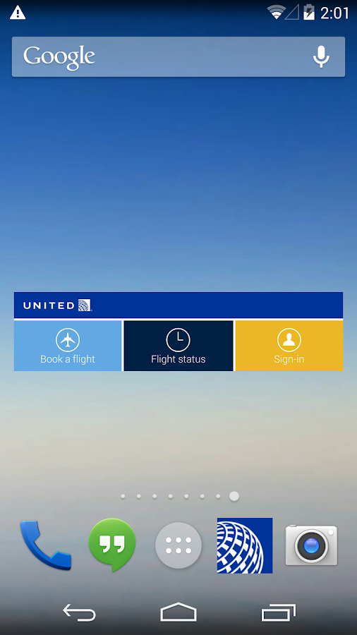 United Airlines- screenshot