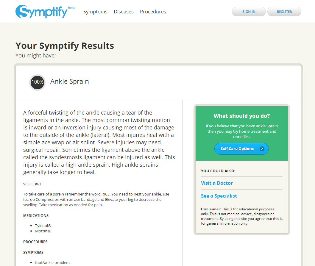 Symptify- Symptoms Simplified- screenshot