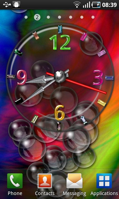 Cool Bubble Clock - screenshot