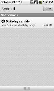 Birthday Organizer Demo - screenshot thumbnail