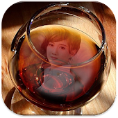 Wine Glass Photo Frames HD