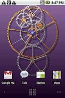 Screenshot of Clockwork Live Wallpaper