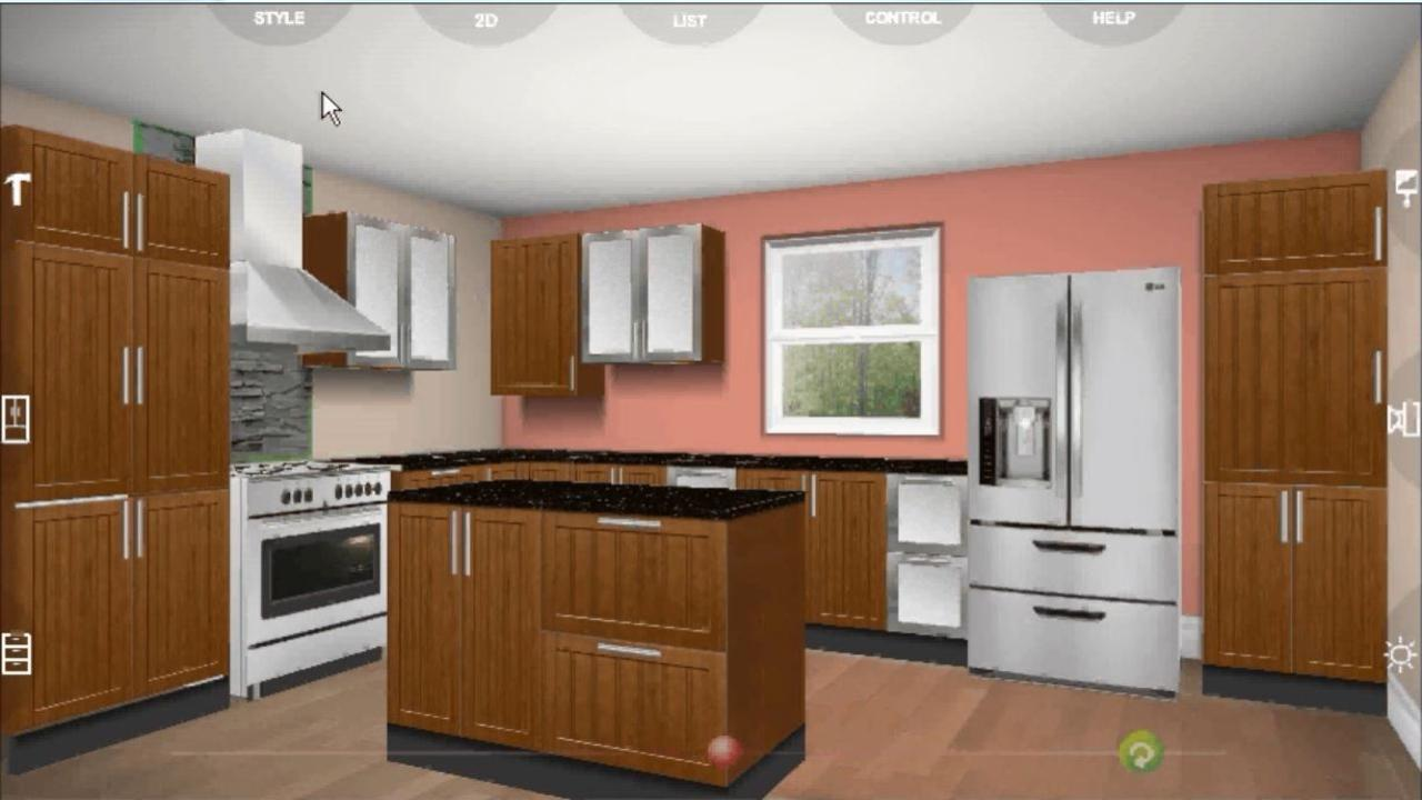 Udesignit Kitchen 3D planner- screenshot