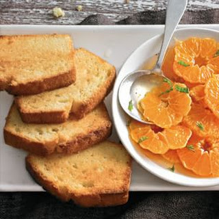Toasted Pound Cake with Spiced Clementines.