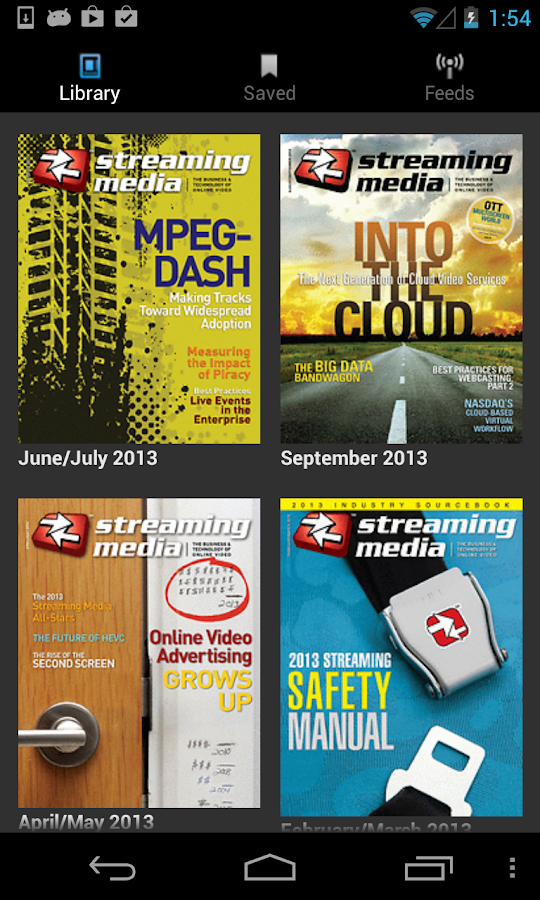 Streaming Media Magazine- screenshot