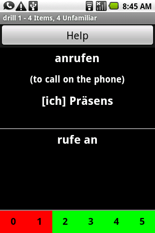 German Verb Trainer - screenshot