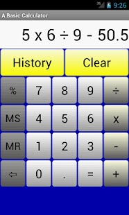 A Basic Calculator - screenshot thumbnail
