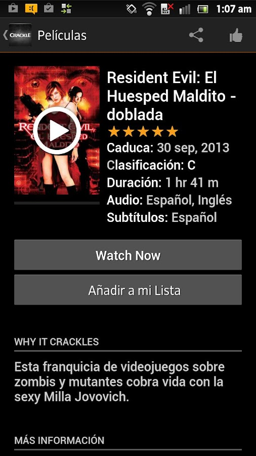 Crackle - Películas Gratis - screenshot
