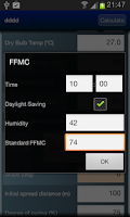 Screenshot of Fire Behaviour Calculator Beta