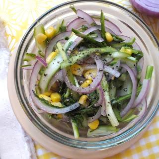 Shaved Asparagus Salad [Raw, Vegetarian, Gluten Free]