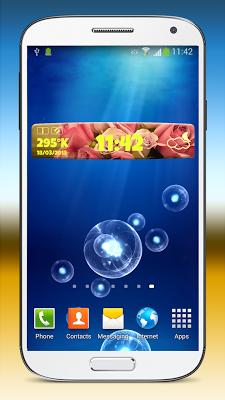 Roses Clock and Weather Widget - screenshot