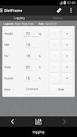 Screenshot of Diet, Weight Diary, Body Log