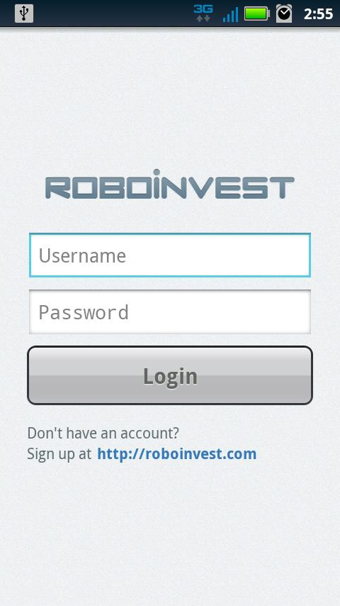 Roboinvest - screenshot