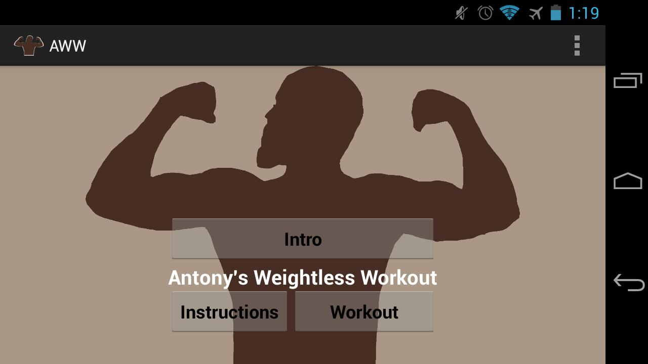 Anthony's Weightless Workout- screenshot