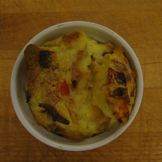 Roasted Carrot & Bacon Bread Pudding