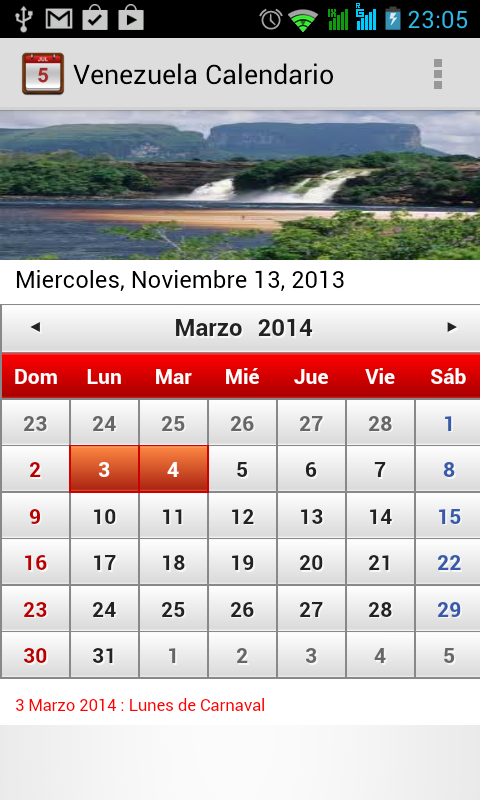 Venezuela Calendario 2014 - screenshot
