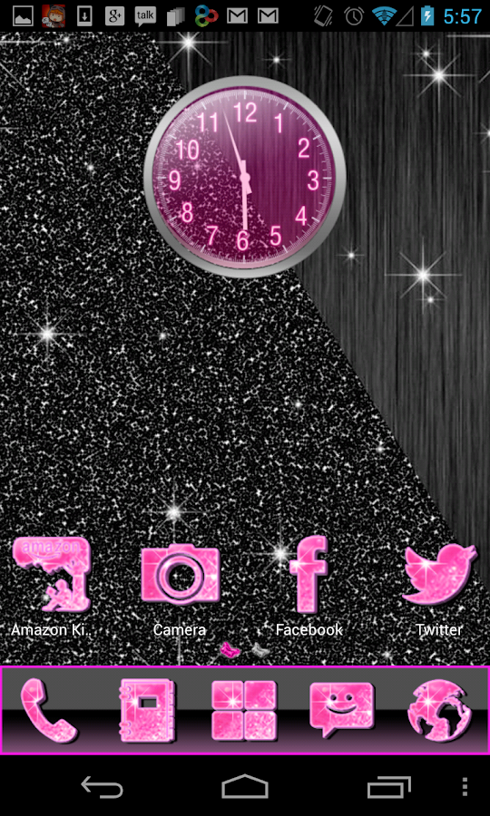 Pink Glitter Theme 4 Launchers - screenshot
